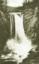 Image of 811.181 - George H Gay print of Snoqualmie Falls, 1888. 