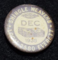 Image of 1056.013 - Snoqualmie Union button. December 1939.