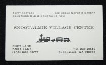 Image of 1056.019. Snoqualmie Village Center Business Card, 1989 (1)