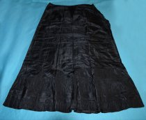 Image of 002.042 - Black taffeta petticoat belonging to Mrs. Lloyd Rees, grandmother of Jerry Rees.