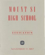 Image of 040.1187 - MSHS Dedication Program. November 17, 1957.  