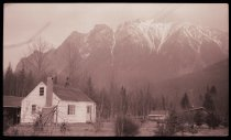 Image of PN.393.0054 - House in North Bend with Mount Si in background.