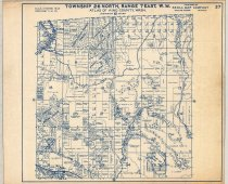 """Image of 030.130 - Map: plat #37. Cherry Valley, Duvall Berry Farms, Cherry Creek, Stossel Creek. Size 14 x 17"""". Published by Kroll, blue printing on white paper. Township 26 North- range 7 east, WM."""