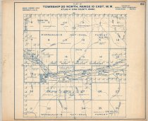 """Image of 030.133 - Map #60. Rooster Mtn., Lester, Green River, Hot Springs. Township 20 North, Range 10 East, WM. Published by Kroll maps, Seattle. 14 x 17"""" long, white paper with blue printing."""