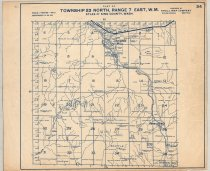 """Image of 030.140 - Map: #34. Raging River, Lovegren Mill, Kerriston, City of Seattle Watershed. Township 23 north- Range 6 east. Published by Kroll Maps, Seattle WA. Blue printing on white paper. 14 x 17"""" long."""
