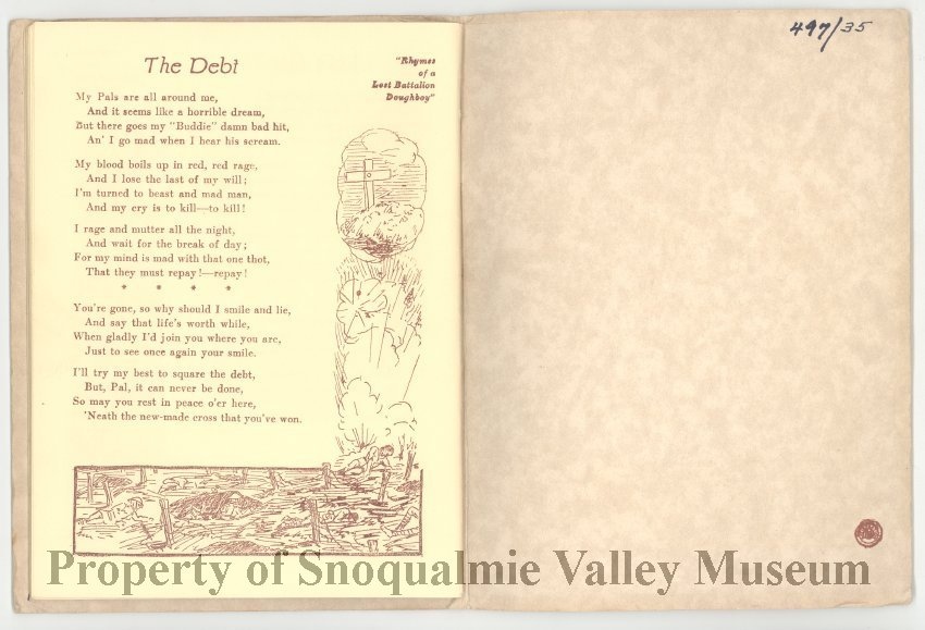 497 035 - Rhymes of a Lost Battalion Doughboy  Small booklet