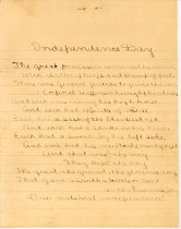 Image of 17-68-a, Independence Day Essay By Elsie Green, 1st Graduate Of Fshs In 190