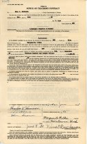 Image of 17-181-a, Marguerite Wilkie, Fshs Teacher's Contract, 1939, Front