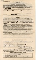 Image of 17-181-b, Marguerite Wilkie, Fshs Teacher's Contract, 1940, Front