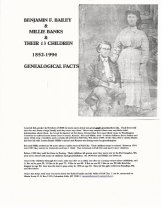 Image of 145.363 - Benjamin Bailey and Millie Banks Geneology.