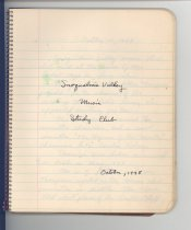 Image of 33-506, Snoqualmie Valley Music Club, Lamar Gaines, Minutes Of Meetings, Oc