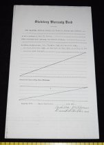 """Image of 030.298 - Warranty deed (copy) 116893. 8.5 x 14"""" Ardilla Miller and husband to Robert E. Burns. Recorded Oct. 22, 1917. The grantor Ardilla Miller and David S. Miller her husband for the consideration of $1 to Robert E. Burns. Lots 13 and 14 in block 13 in the town of Fall City according to the recorded plat thereof."""