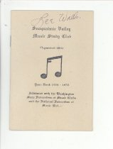 Image of 033.502 - Snoqualmie Valley Music Club program yearbook.