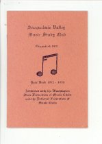 Image of 033.503 - Snoqualmie Valley Music Club program yearbook.
