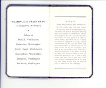 Image of 33-505-b, Snoqualmie Valley Music Club, Lamar Gaines, Deposit Book, Inside