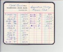 Image of 33-505-b, Snoqualmie Valley Music Club, Lamar Gaines, Deposit Book, Record