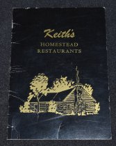 Image of 097.018 - Keith's Homestead Restaurant menu.