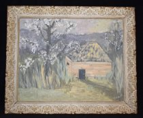 Image of 1086.001 - Oil Painting of Hop Shed by Helen Widen.