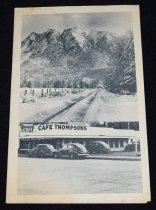 Image of 212.048 - Thompson's Cafe menu.