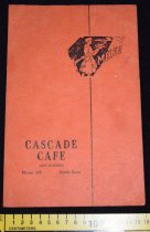Image of 432.002. Cascade Cafe Menu, 1945 (2)