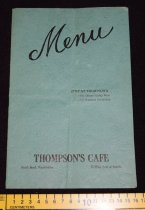 Image of 432.003. Thompson's Cafe Menu, 1944 (2)