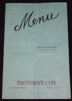 Image of 432.003. Thompson's Cafe Menu, 1944 (1)