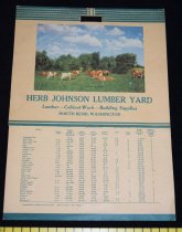Image of 534.154. Johnson Lumber Yard Calendar, 1951 (2)