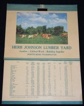 Image of 534.154. Johnson Lumber Yard Calendar, 1951 (1)