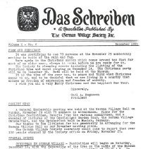 Image of German Village Society Newsletter Collection - NL_December_1970