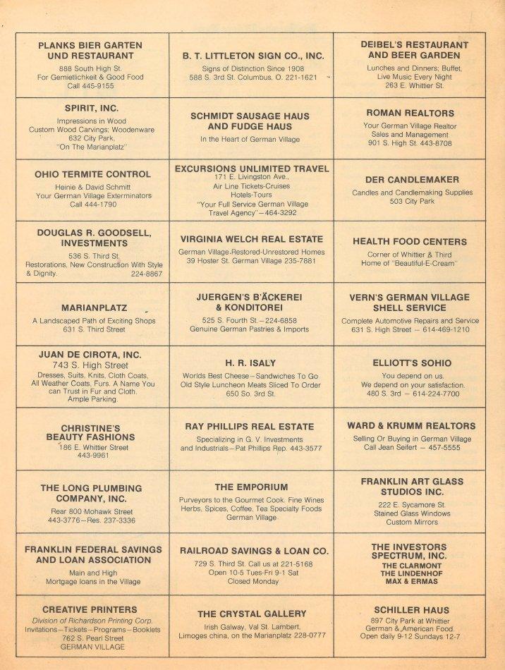 German Village Society Newsletter Collection - NL_August_1973
