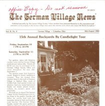 Image of German Village Society Newsletter Collection - NL_JulyAugust_1982