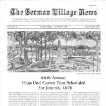 Image of German Village Society Newsletter Collection - NL_MarchApril_1979