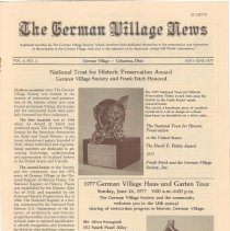 Image of German Village Society Newsletter Collection - NL_MayJune_1977