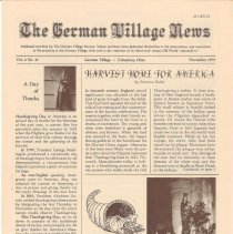 Image of German Village Society Newsletter Collection - NL_November_1975