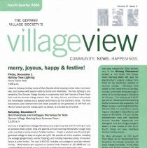 Image of German Village Society Newsletter Collection - NL_OctoberNovemberDecembe
