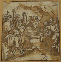 Image of Miniature Biblical drawing (detail)