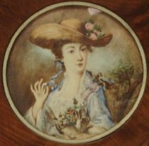 Image of Miniature of a Lady in a Straw Hat