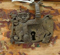 Image of Trinket Box (detail of key escutcheon)