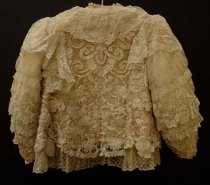 Image of Lace bed jacket (back)