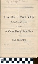Image of Warren County Horse Show program, 1922