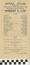 "Image of ""Robert E. Lee"" play program, 1920"