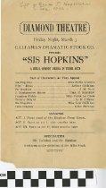 """Image of """"Sis Hopkins"""" play program"""