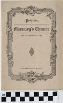 Image of Macauley's Theatre program for 1915-1916. -