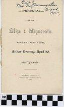 Image of Elks Minstrels Program