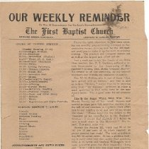 Image of Our Weekly Reminder newsletter, 1914