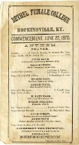Image of Bethel Female College commencement program, Hopkinsville, Ky. - Bethel Female College