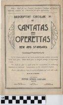 Image of Catalog of Cantatas and Operettas