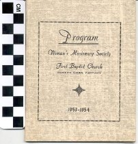 Image of Program - Woman's Missonary Society