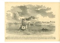 Image of View of the Town of Paducah - View of Fortifications at Columbus, KY -