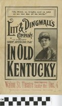 "Image of ""In Old Kentucky"" play program"